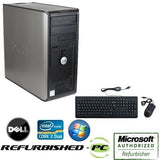 Dell Optiplex Computer Tower PC Core 2 Duo Windows 10 Keyboard Mouse