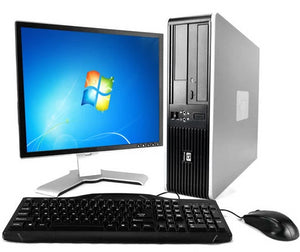 "HP Compaq pro DC5800 SFF PC  Desktop Computer Intel  Core 2 Duo  2.4GHz 4GB Ram 250GB DVD windows 10 Home 19"" LCD Monitor  Keyboard Mouse"