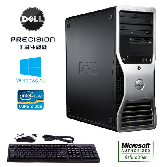 Dell Precision T3400 Workstation Computer Windows 10 Keyboard Mouse