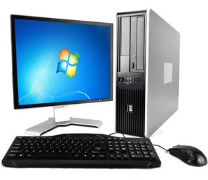 "HP Compaq SFF PC  Desktop Computer Windows 10 Pro 64 bit, Core 2 Duo, 3.0GHz 8GB Ram 1TB HDD, DVD-ROM, 19"" LCD Monitor, Keyboard Mouse, Speakers,WIFI"