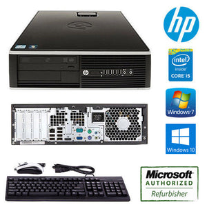 HP Compaq 6200 Pro SFF HP Desktop Computer Core i5 3.1GHz Win 7 / 10