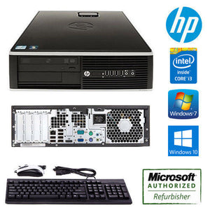 HP Compaq 6200 Pro SFF HP Desktop Computer Fast Core i3 3.10GHz Core PC Win 7 or 10