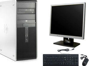"CLEARANCE!! Super Fast HP Tower Desktop Computer Core 2 Duo WIN 7 PRO + 19"" LCD+KB+MS (DDR3)"