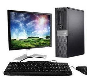 "Dell Optiplex 960 Desktop PC Windows 10 Pro 64 Bit Computer With 17"" LCD Keyboard Mouse"