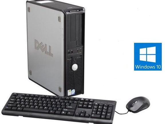 DELL Optiplex 740 Desktop Computer Windows 10 WIFI Keyboard Mouse Bundle PC