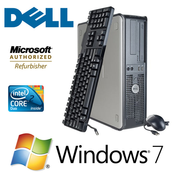 Fast Dell Optiplex Desktop PC Windows 7 Pro Computer Keyboard and Mouse