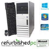 "CLEARANCE!! Fast HP Windows 7 Pro Tower Desktop + 17"" LCD Dual Core 3.4 GHz 