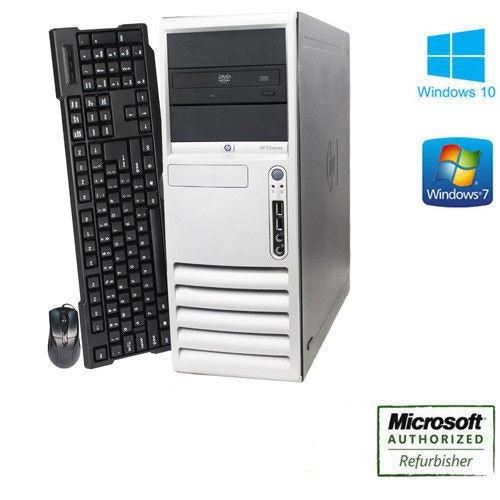 CLEARANCE!! Fast HP Windows 7 Pro Tower Desktop Computer Dual Core 3.4 GHz | 500 HDD | 8GB RAM | Wifi