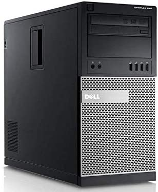RENEWED Tower Computer Package Dell Optiplex 790, Intel Quad Core i5-2400 Up to 3.40 GHz, WIN 10 Pro, DVD-RW, WIFI, Bluetooth, (Customize)