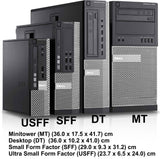 Dell Optiplex 3010 Tower Intel Core i5 3.10GHz 8GB RAM 2TB Hard Drive Windows 7 Pro 64Bit USB WIFI Adapter