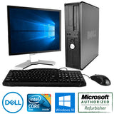"Dell Optiplex Windows 10 PC 17"" Monitor Keyboard Mouse 4GB RAM 500 HD"