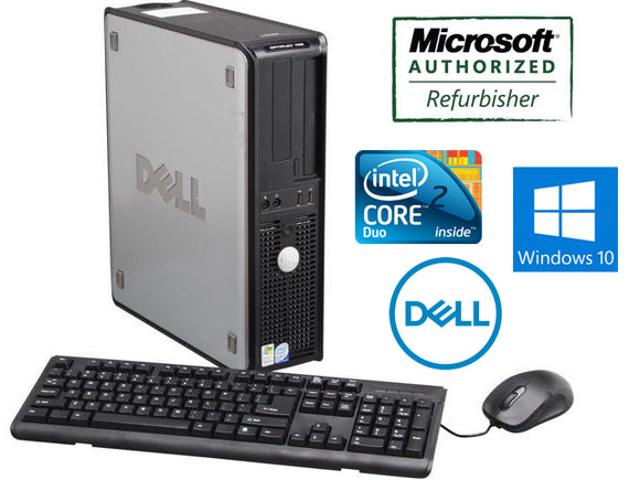 Dell Optiplex 745 Desktop Core 2 Duo 2.0 GHz 4GB RAM 160GB HDD Windows 10 Keyboard Mouse