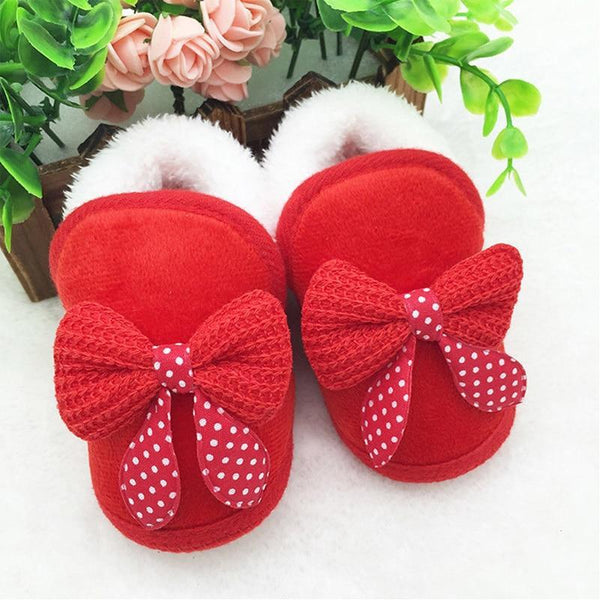 Chaussures Rouge / 0-6 mois Chaussons Girly Noeuds