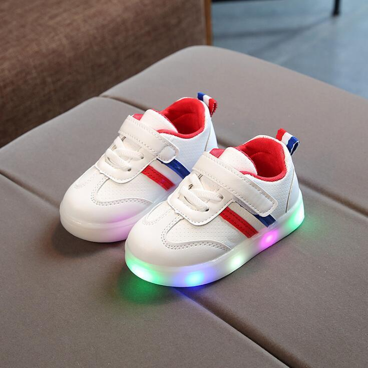 Chaussures Rouge-Bleu / 21 EU Baskets Sport Led