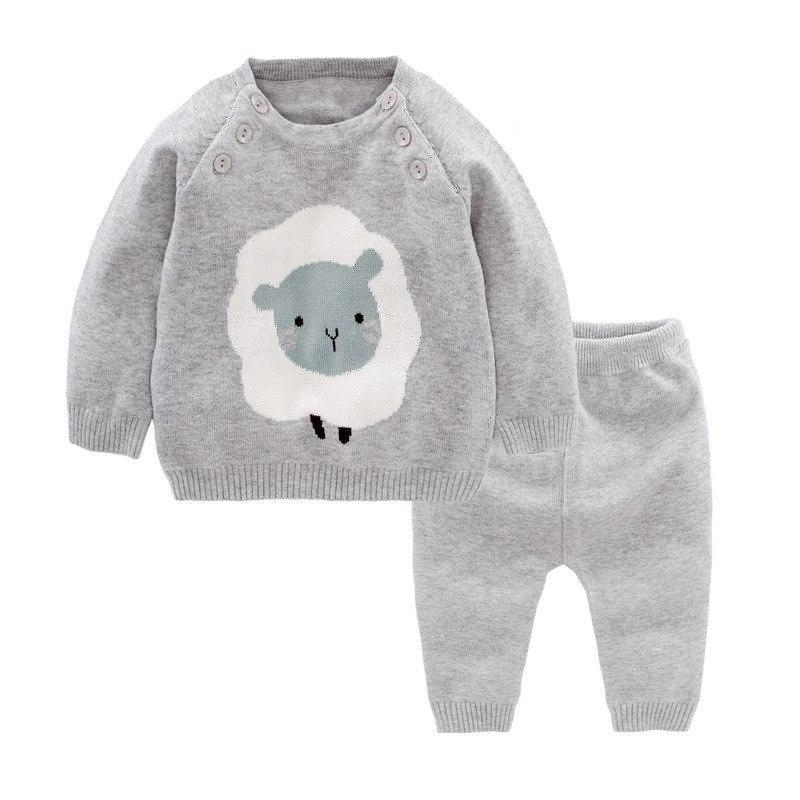 Ensemble Gris / 6 mois Ensemble Tricot Timmy