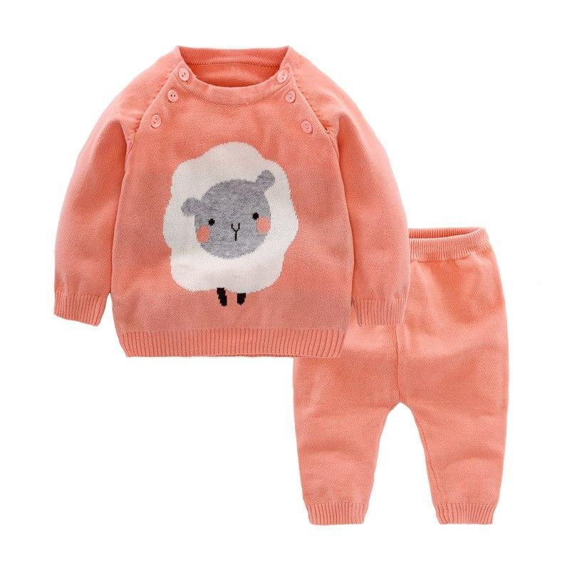 Ensemble Saumon / 6 mois Ensemble Tricot Timmy