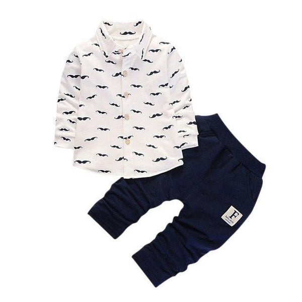 Ensembles & Pantalons Moustache White / 3 ans Ensemble Moustache