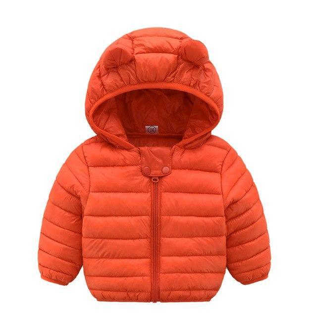 Manteau Orange / 3 mois Parka Petit Ours