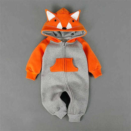 Manteau Renard Orange / 6 mois Combinaison Sweat