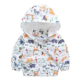 Manteau Zoo Blanc / 24 mois Coupe-Vent Zoo