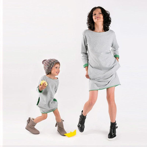 Mère & Fille Robe Casual comme Maman