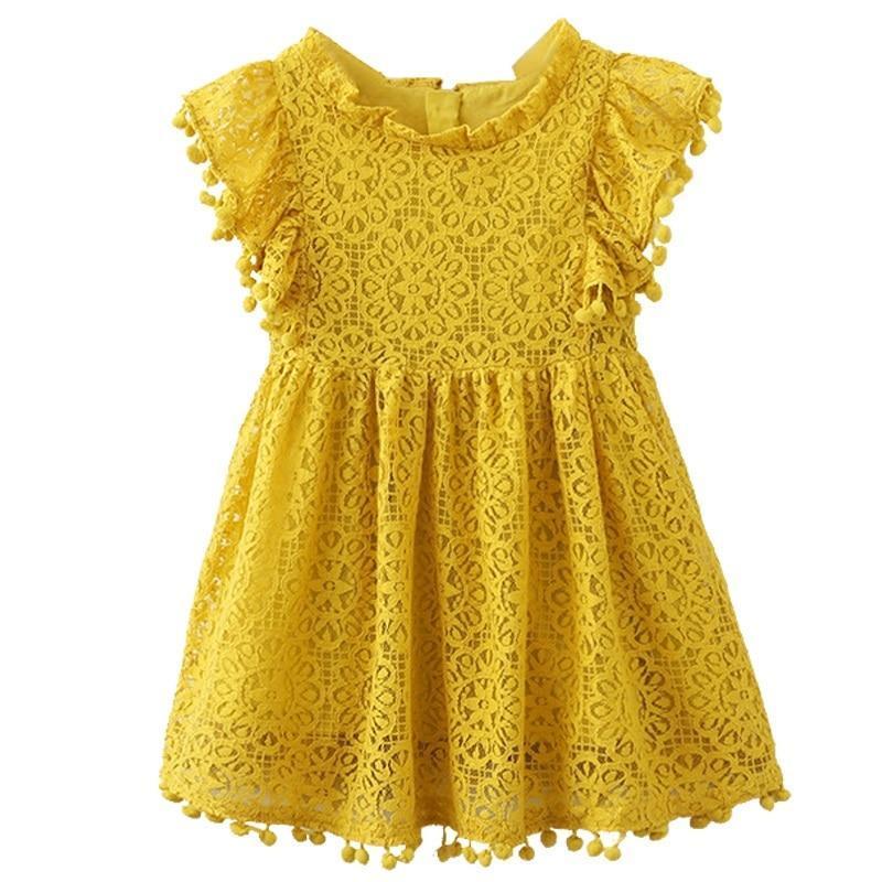 Robe Jaune Moutarde / 3 ans Robe de Bal