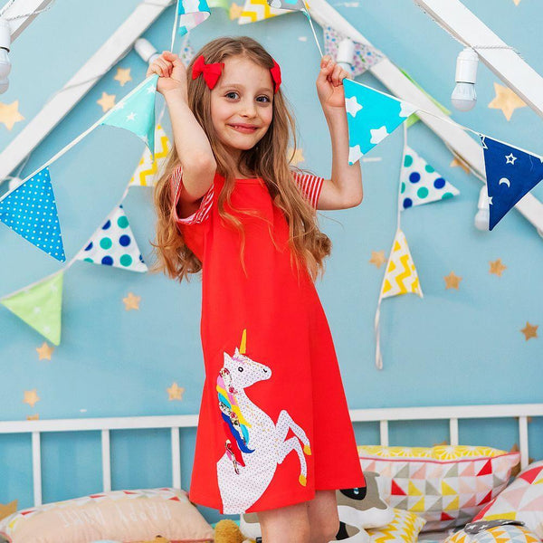 Robe Lila / 2 ans Robe Licorne Fun