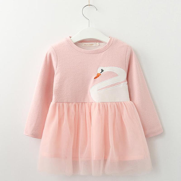 Robe Rose / 6 mois Robe Cygne Girly