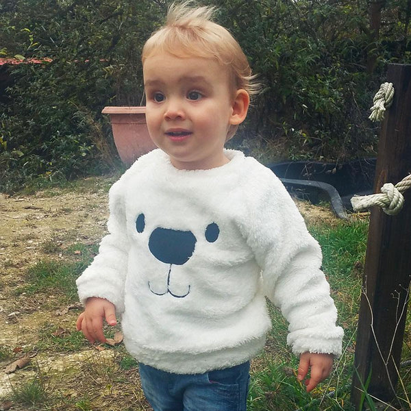 Sweatshirt Ours Blanc / 2 ans Sweat Ours Polaire