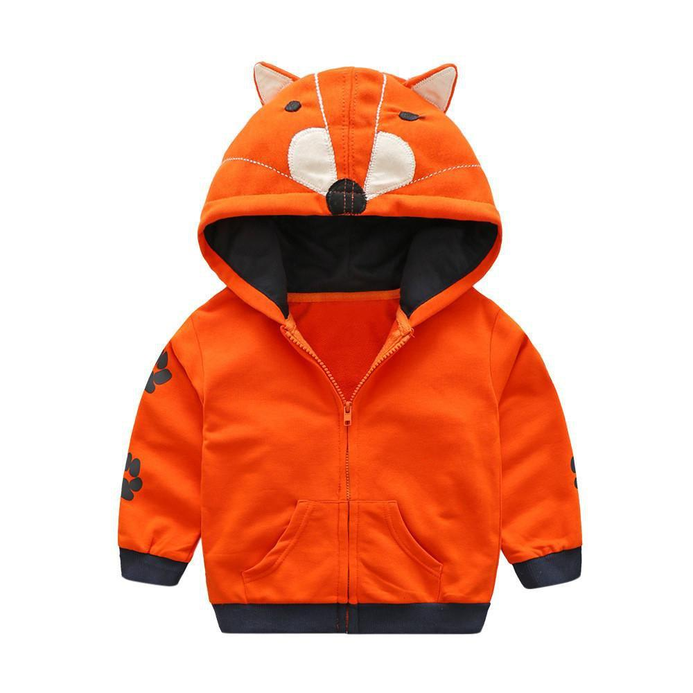 Sweatshirt Renard Orange / 12 mois Sweatshirt à Capuche Sauvage