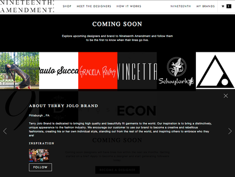 Coming Soon to your Closet: Coming Soon Designers