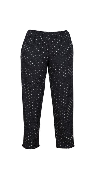 Ebony Black and White Polka Dot PJ Pant by Sleep Sassy Loungewear made in the USA | Nineteenth Amendment