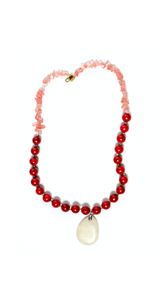 Red Fossil Pendent Necklace Soul by Tapti Tapan Nineteenth Amendment