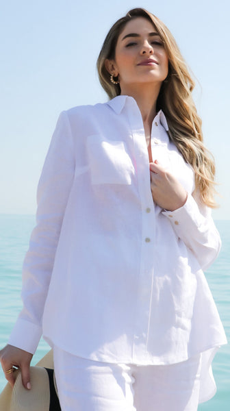 Oversize Linen Button Down Shirt