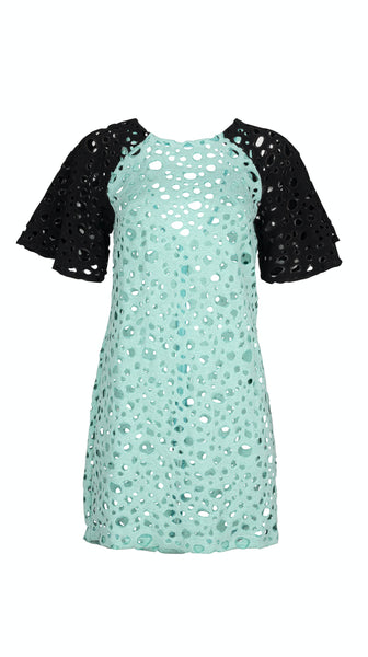 Mint Green black Ischia Low Back Lace  Beach Cover-Up Dress by VARYFORM | Nineteenth Amendment