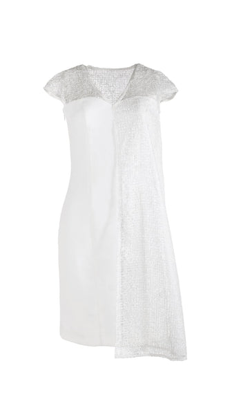 Amalthea Short White Lace Dress by San Francisco brand SF Couture sustainable fashion made in the USA | Nineteenth Amendment