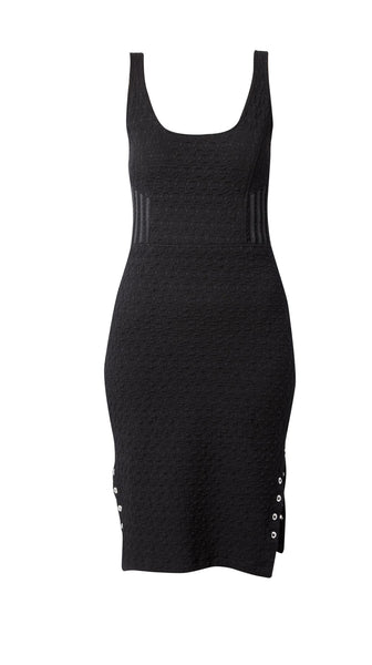 Black Mid-Length Mixed Media Dress by Meghan Hughes Nineteenth Amendment
