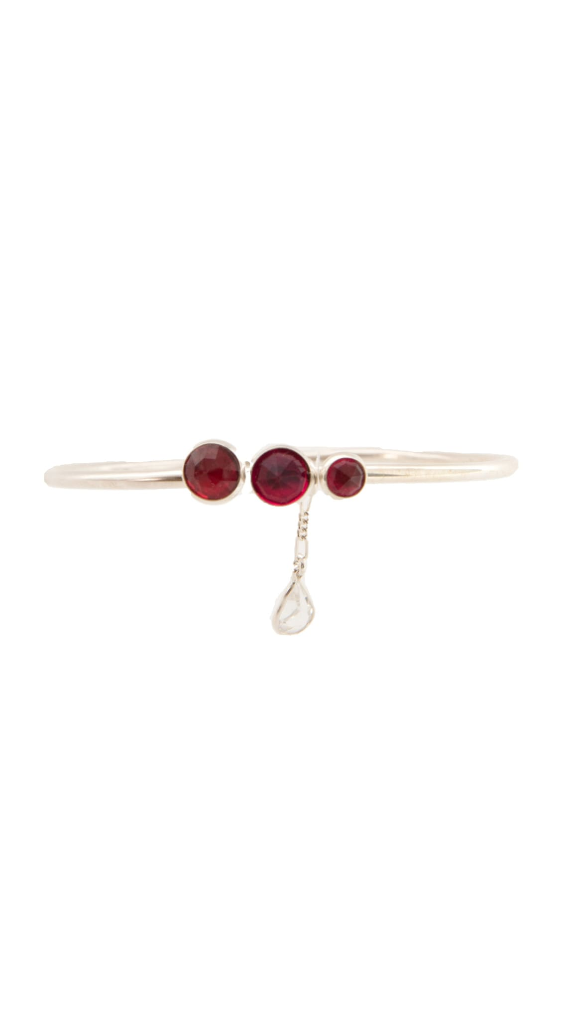 Sterling Silver red stone Bloody Wrist Bangle by KING RELD | Nineteenth Amendment