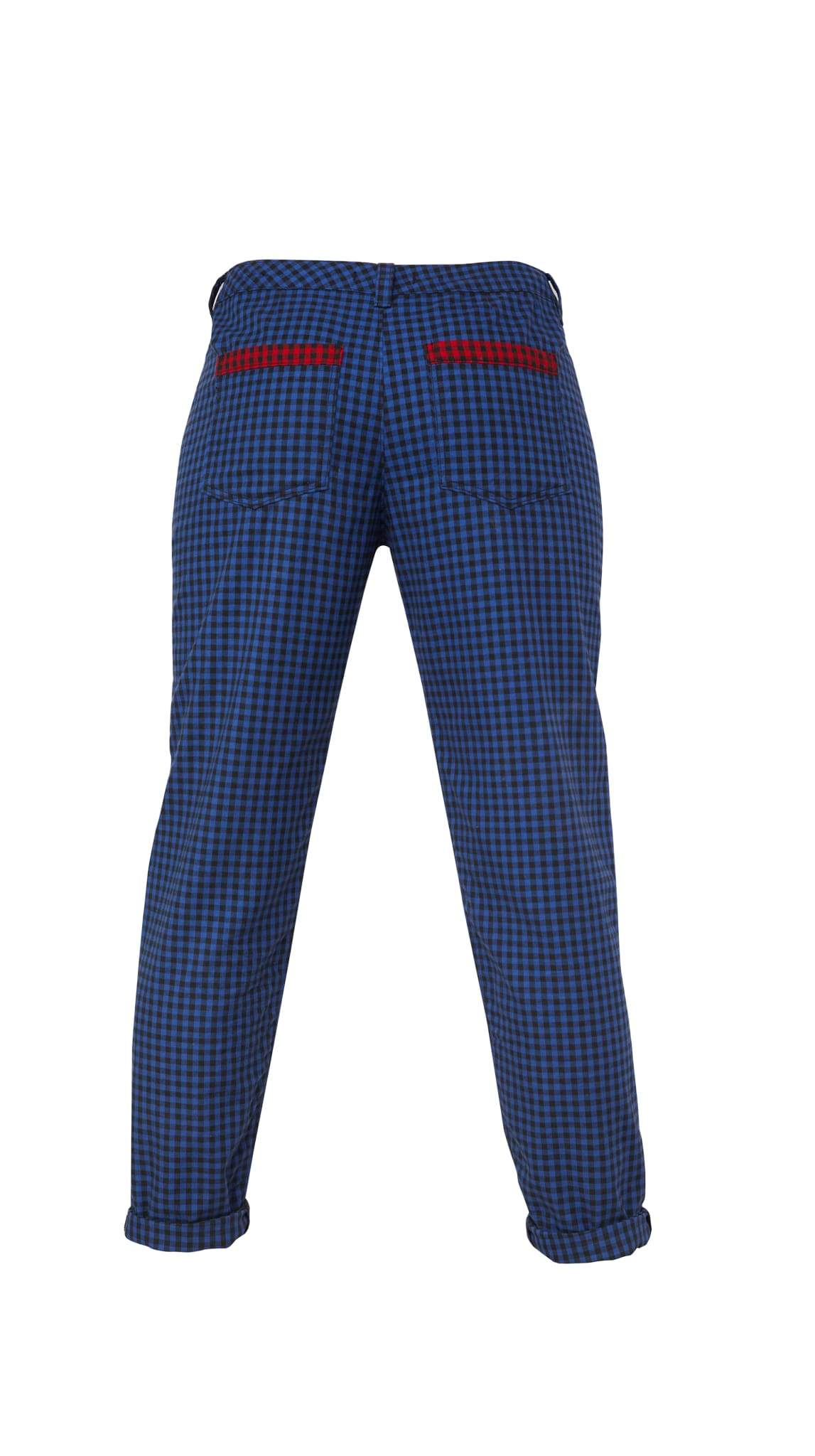 Blue Check Pants by Meghan Hughes Nineteenth Amendment