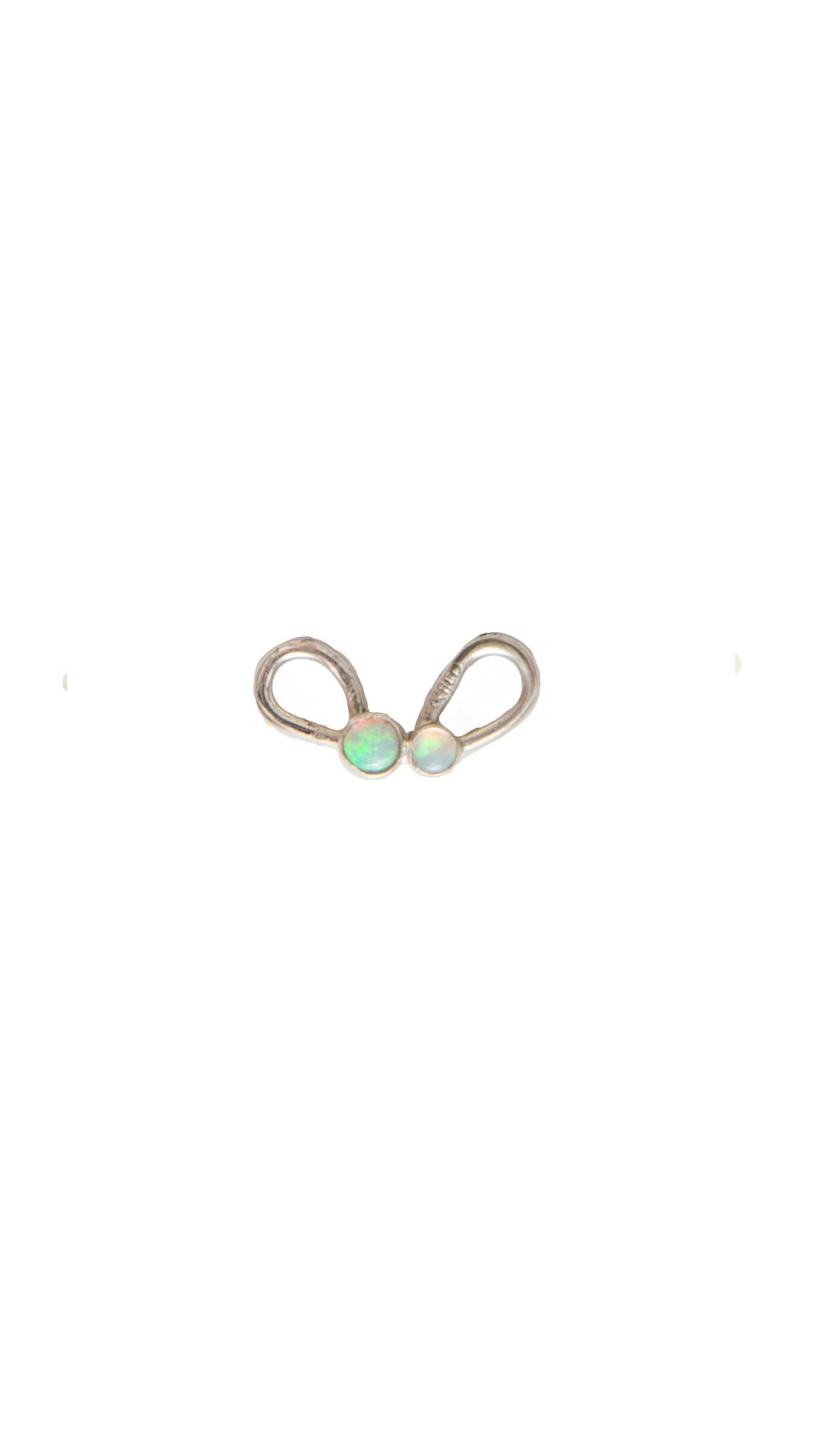sterling and opal Boogies Nostril Clip by KING RELD | Nineteenth Amendment