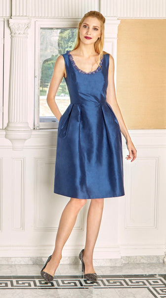 Camellia Dress in Blue