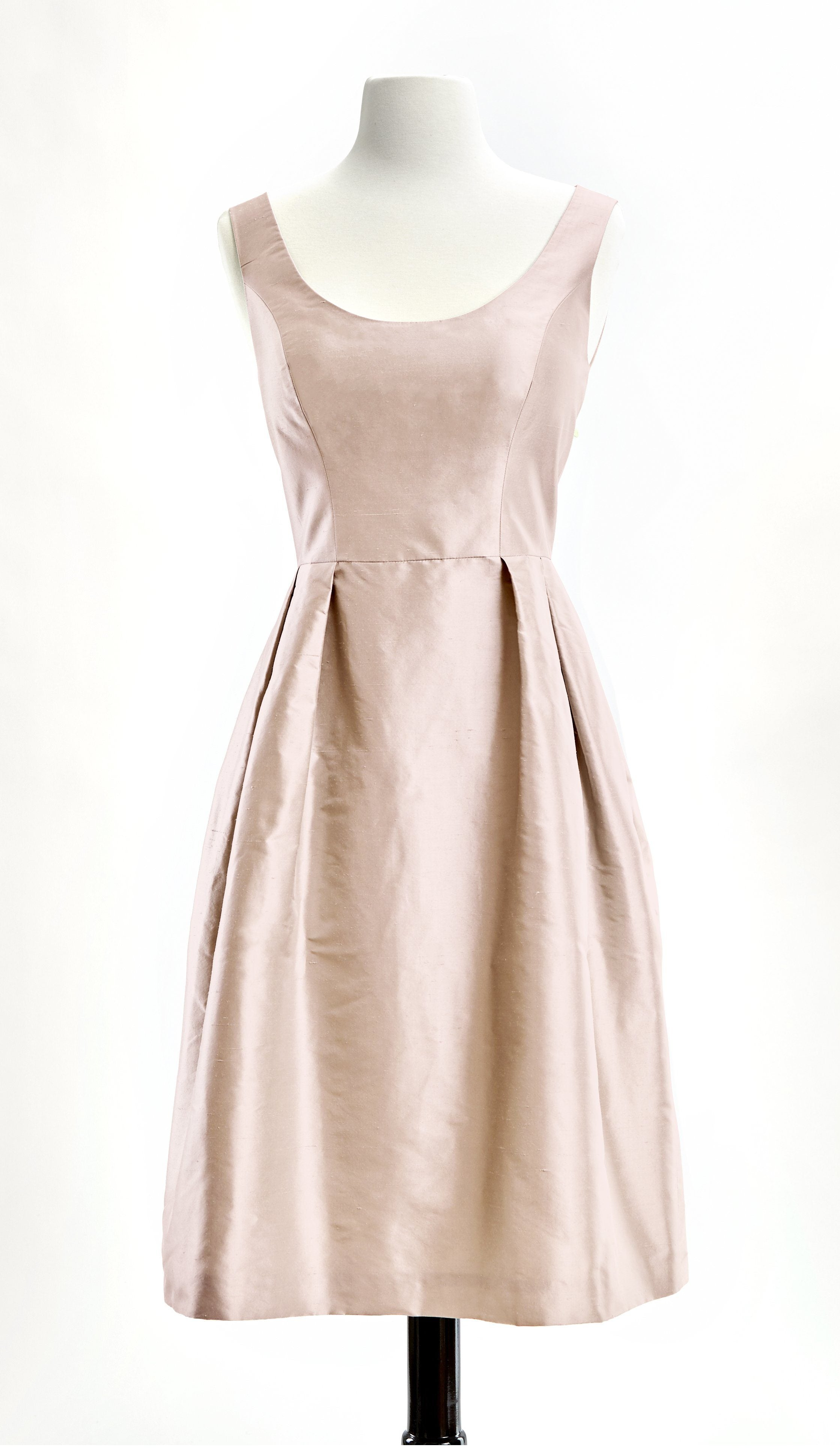 Customizable Pink Silk Cocktail Camellia Dress in Blush by Bespoke Southerly | Nineteenth Amendment