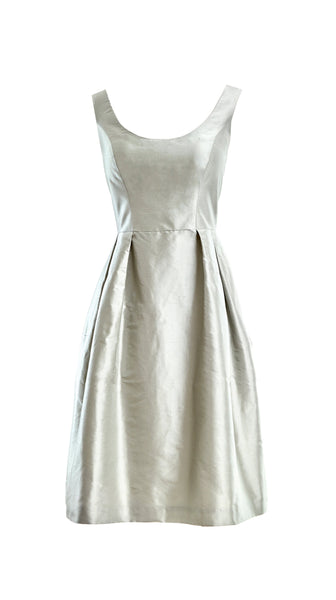 Customizable Camellia Dress in Silver by Bespoke Southerly | Nineteenth Amendment
