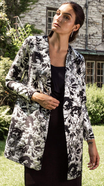 Candra Jacquard Evening Coat