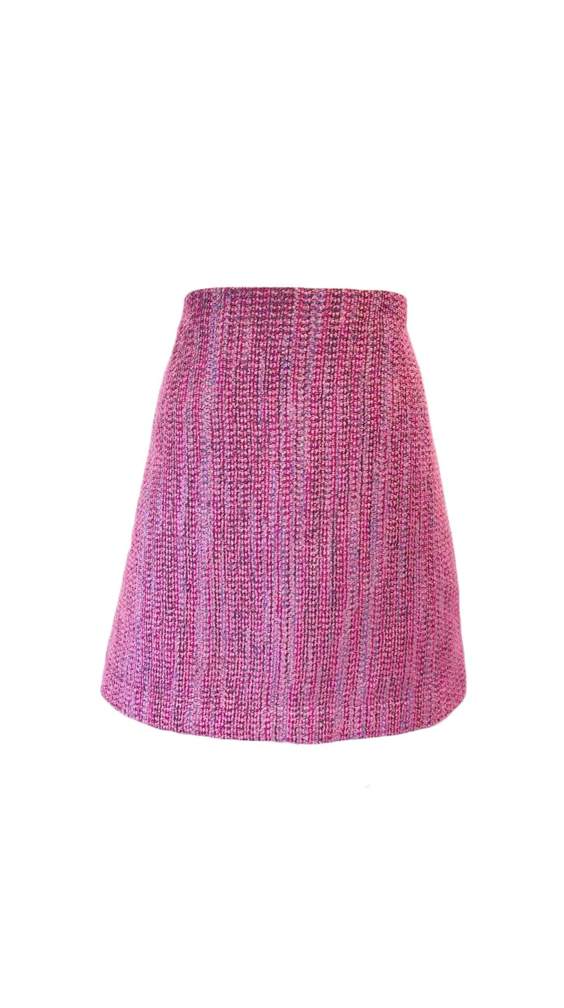 Wool Chi Chic Skirt in Pink by Bianca Zidik | Nineteenth Amendment