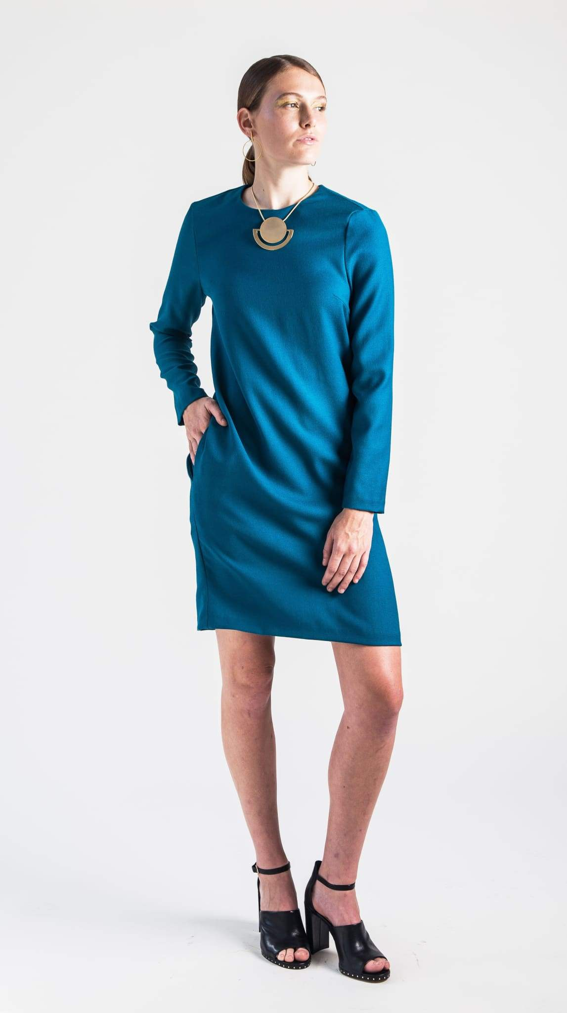 Clare Classic Teal Shift Dress by Varyform Nineteenth Amendment