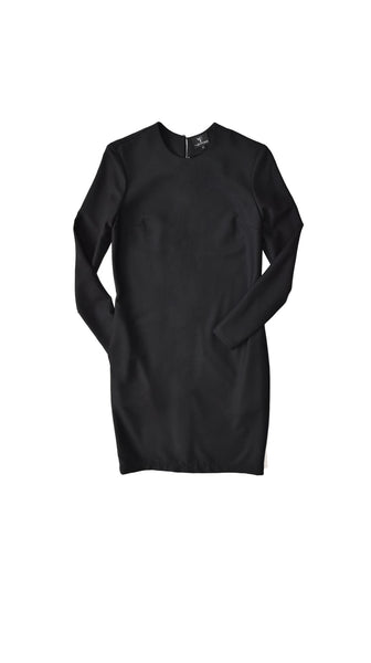Black Wool Long sleeve Classic Shift Dress by VARYFORM Nineteenth Amendment