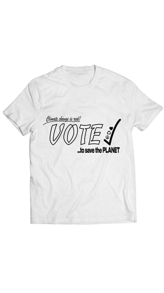 White 19 Amendment Anniversary Unisex Climate Action Now T-Shirt by Rosina~Mae | Nineteenth Amendment