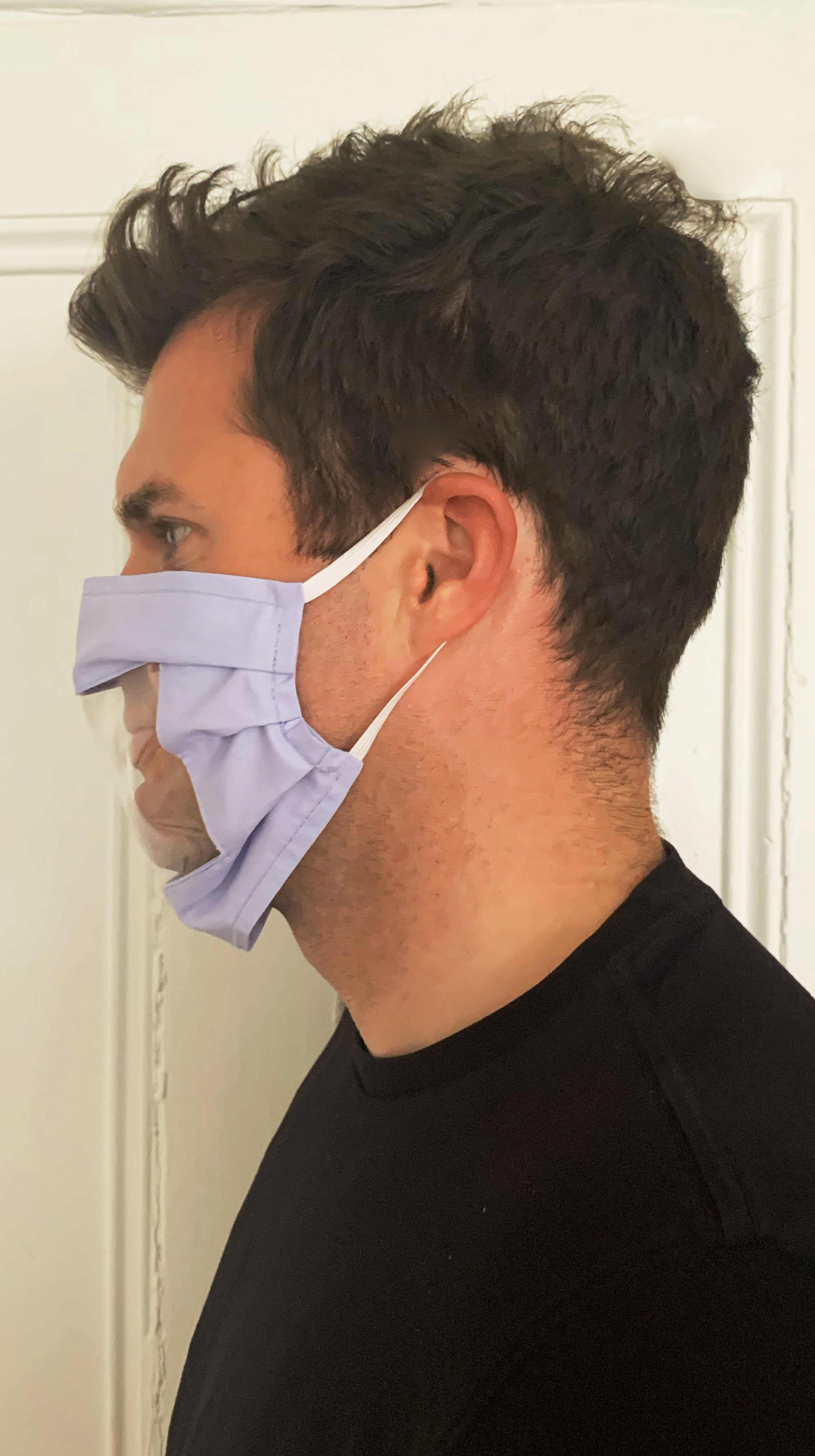 100% Cotton Communicator Mask with Vinyl Window for Deaf and Hard of Hearing | Nineteenth Amendment