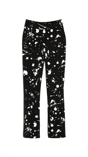 Cropped Black High-Waisted Splatter Art Paint Pants by Lobo Mau Made in Philadelphia | Nineteenth Amendment